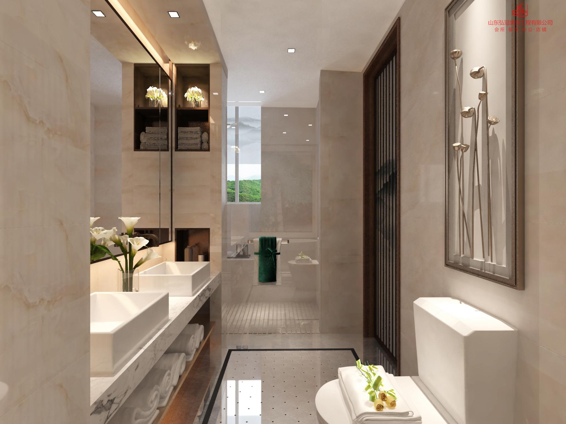 淄博酒店客房卫生间的设计注意事项